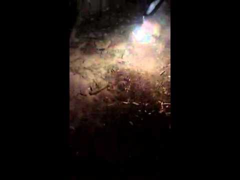 Magnesium Rod Burning Under Water.