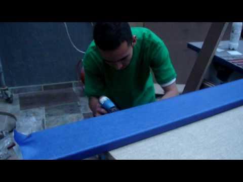 Divisiones para oficina tapizado de paneles youtube - Materiales para estucar paredes ...
