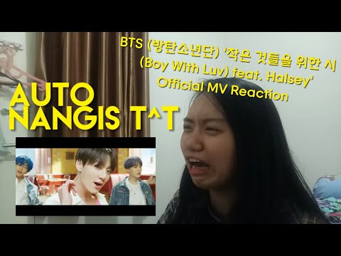 BTS (방탄소년단) '작은 것들을 위한 시 (Boy With Luv) feat. Halsey' Official MV REACTION [INA]