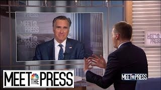 Full Romney: Immigration Is 'Overwhelming Our System' | Meet The Press | NBC News