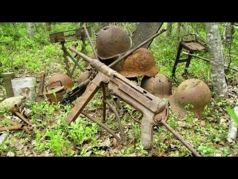 WWII guns found near German bunker WW2 Metal Detecting