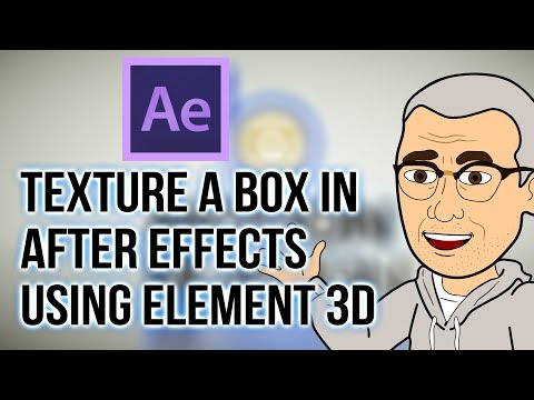 AFTER EFFECTS + ELEMENT 3D: Texturing Box Art