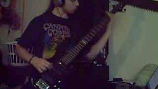 Cannibal corpse Rotted body landslide on bass guitar