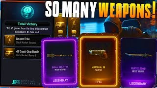 WEAPON BRIBE UNLOCKED! SO MANY WEAPONS! (BO3 Supply Drop Opening) First Contract Completed!