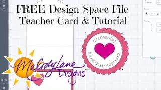 Teacher Easel Card- Free File - Design Space