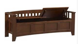 Short-back Split-seat Storage Bench