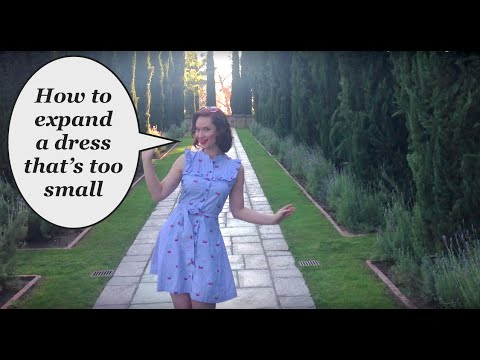 81174443ef31 How to expand a dress that s too small The Retro Rachel Dixon Tutorial DIY  sewing atlerations