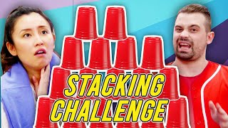 Smosh Tries Speed Stacking