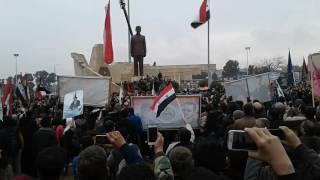 إعادة تمثال حافظ الأسد إلى مدينة حماة