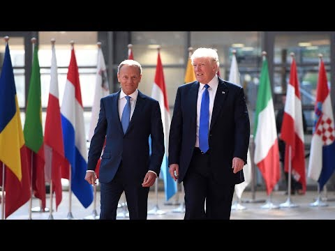 Trump meets with EU chiefs in Brussels ahead of NATO summit
