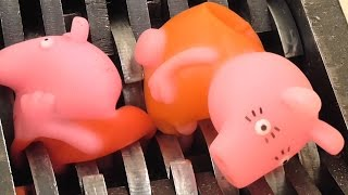 Shredding Peppa Pig Family Toys