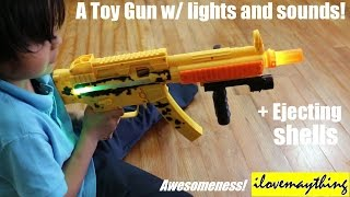A Toy Gun with Lights and Sound Effects + Ejecting Bullet Shells!