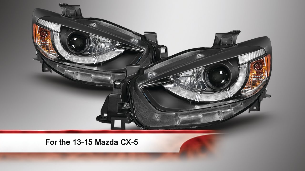 13 15 mazda cx 5 drl led projector headlights youtube. Black Bedroom Furniture Sets. Home Design Ideas