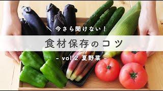 【節約生活の救世主!】夏野菜の冷蔵保存テク&アレンジ自在作り置き まとめ買い食材のストック術♪