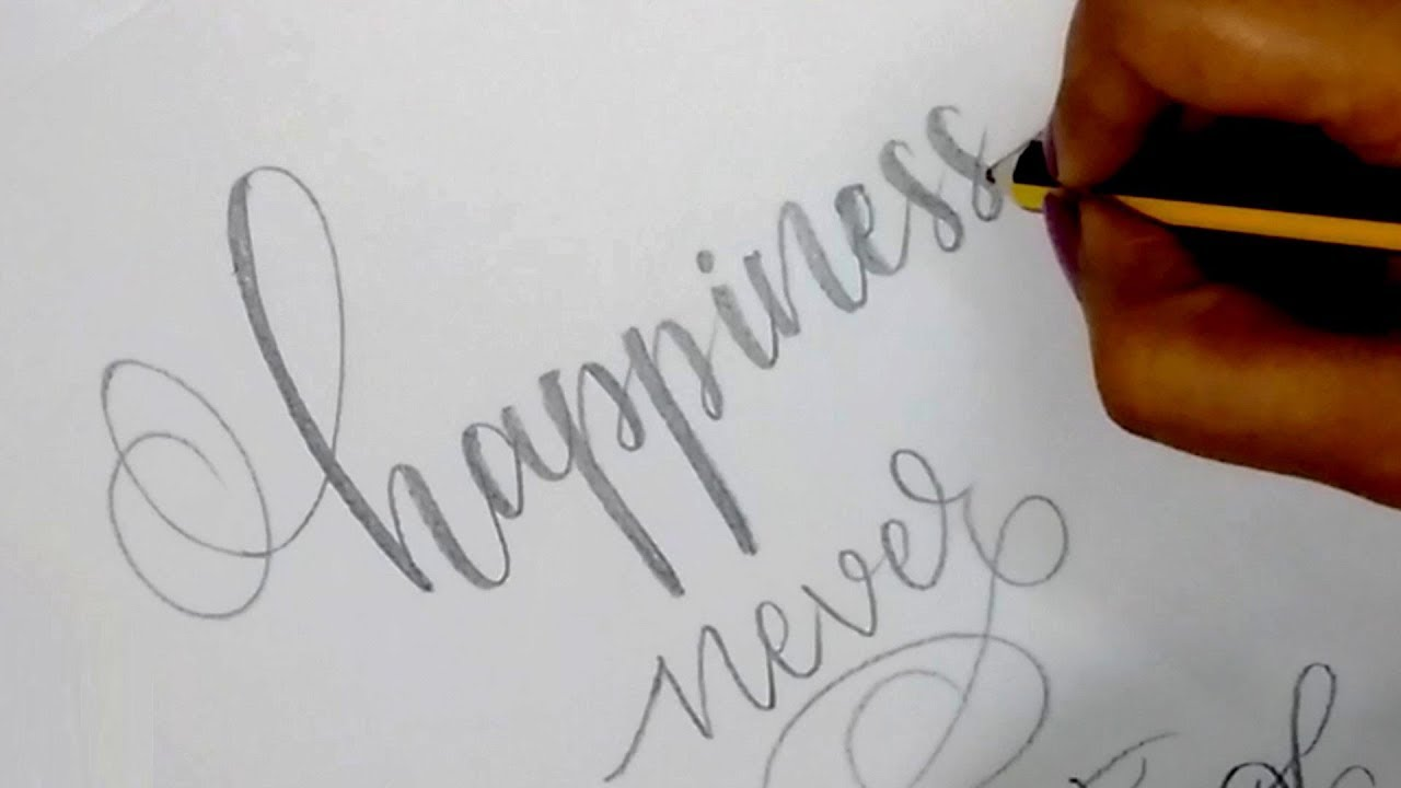 How To : Write in Modern Calligraphy with Pencil  Easy Hand Lettering for  Beginners