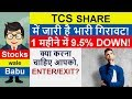 TCS SHARE 9.5% DOWN in 1 MONTH. ENTER or EXIT. Latest PRICE UPDATE & Detailed TECHNICAL ANALYSIS