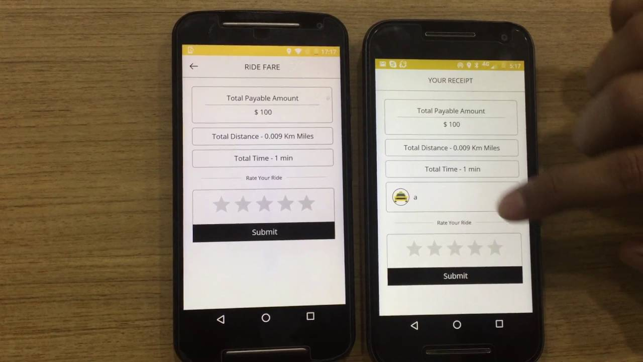 Uber Clone Taxi Booking Mobile App
