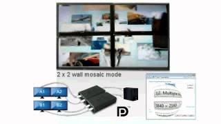 DisplayPort to 2-port DisplayPort Graphics Splitter Adapter-DPD2000