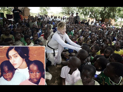 Whisked from an orphanage onto Madonna's private jet: Twin sisters from Malawi begin.
