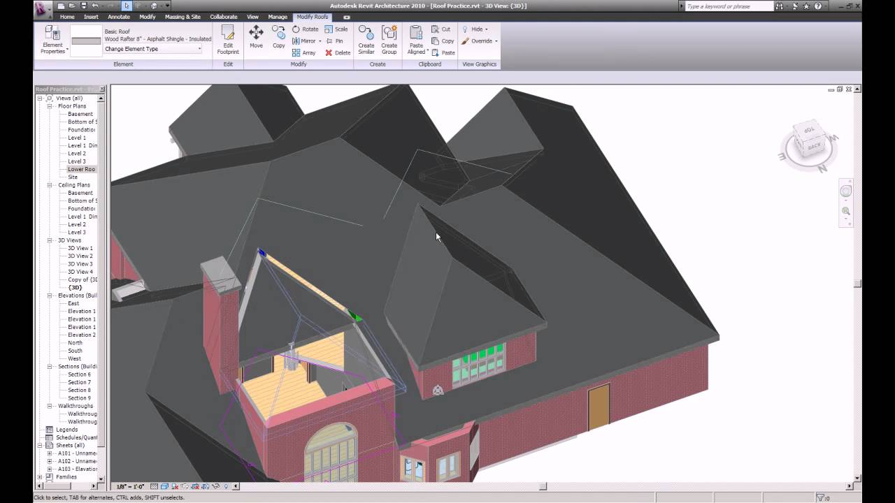 Complex Multi Story Roof On Revit