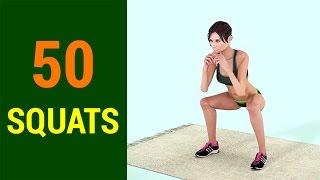 50 Squats Challenge [Lean Legs & Butt]
