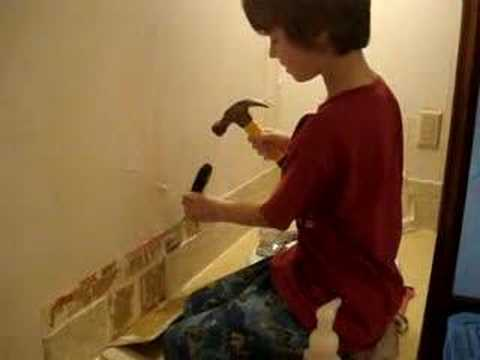 Removing Bathroom Tile   YouTube