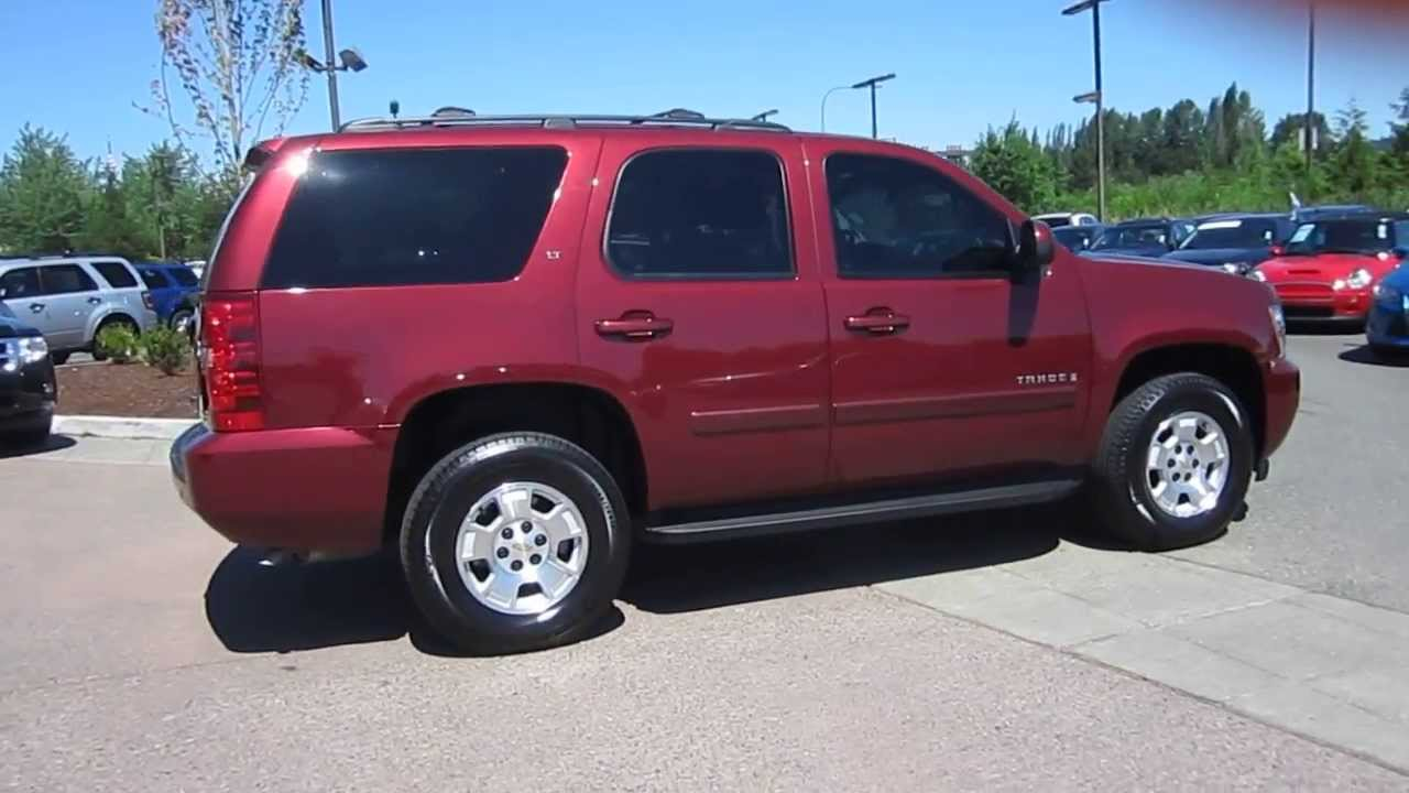 2008 Chevrolet Tahoe Burgundy Stock 13 2807a Youtube
