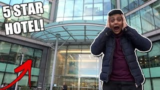 SNEAKING INTO A 5 STAR HOTEL IN LONDON! (SECURITY CALLED!!)