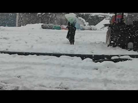 First Snow of 2017 at kupwara