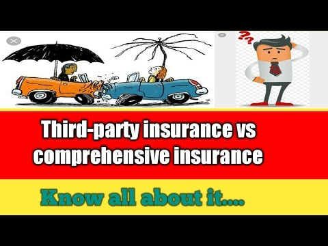 |what is Third party insurance |comprehensive motor insuranc