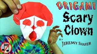 Origami Scary Clown
