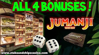 All 4 BONUSES !! JUMANJI SLOT Online Casino Game Win