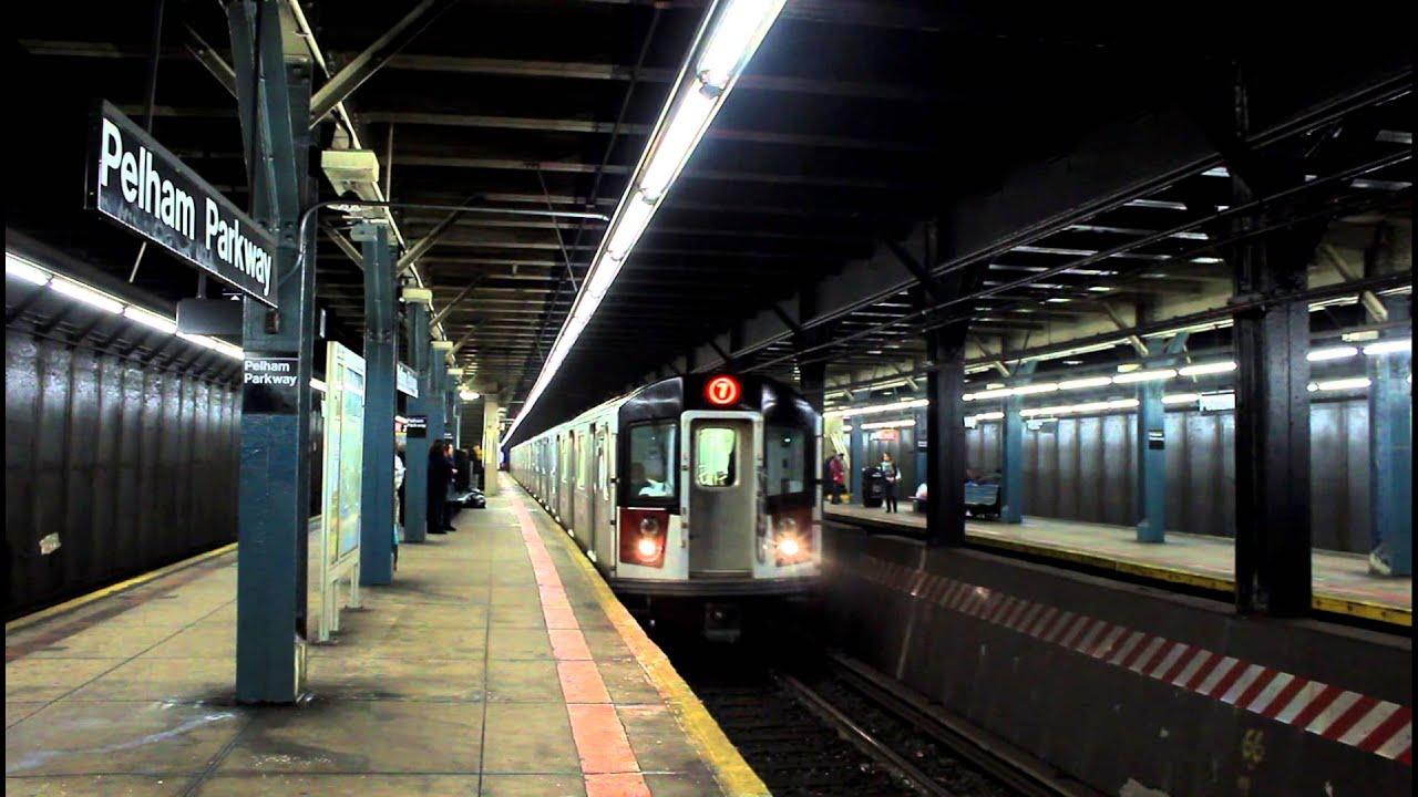 IRT Subway Special! R188 (7) Test Train passes Pelham Parkway (NYW&B ...