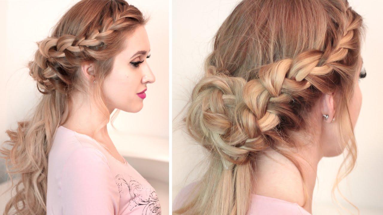 Coiffure romantique cheveux longs
