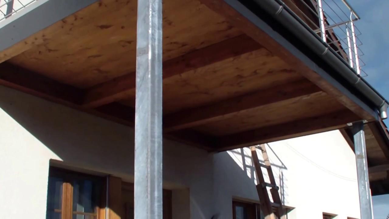 balkon tr ger st tzen selber machen youtube. Black Bedroom Furniture Sets. Home Design Ideas