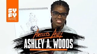 Watch Comic Book Artist Ashley A. Woods Draw Lady Castle Characters | SYFY WIRE