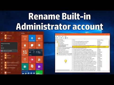 Rename Built-in Administrator Account Windows 10