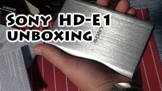 Sony HD-E1 1TB External Hard Drive USB - Unboxing - Gaak