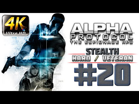 Alpha Protocol Walkthrough (4k PC) HARD / VETERAN - Part 20 - ROME - Madison St. James