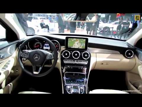 mercedes benz c class w205 2014 white car interior exterior walkaround youtube. Black Bedroom Furniture Sets. Home Design Ideas
