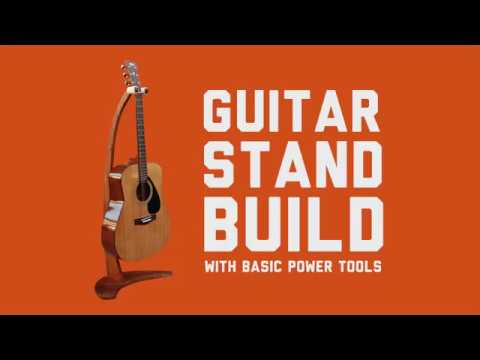 Wooden Guitar Stand Made Using Basic Power Tools Easy Diy