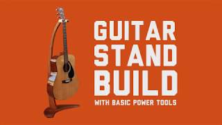 A hardwood guitar stand built with basic power tools. Jigsaw, router, power sander and drill. Full build tutorial with free plans ...