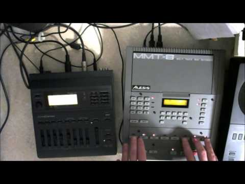 Roland SC-155 and Alesis MMT-8