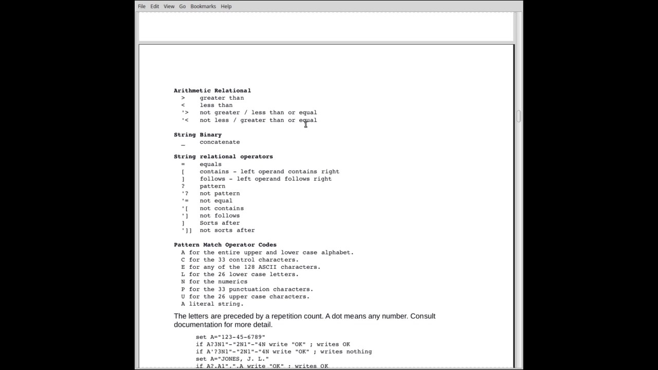 Mumps Programming Language Tutorial Part 4