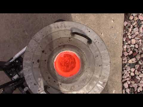 How to make a foundry burner to melt copper.