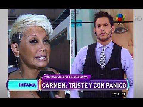 Carmen Barbieri, en su peor momento: triste y con ataques de pánico
