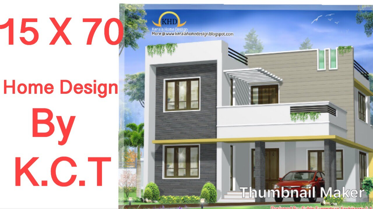 15 X 70 House Design Plan Type 1 1bhk With Car Parking Youtube