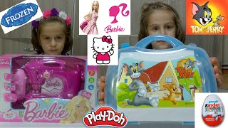 ♥ frozen elsa song kinder surprise  barbie  hello kitty  tom and jerry ♥  princess anna