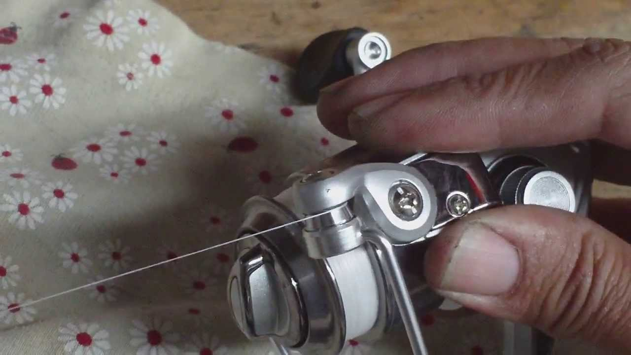 Spinning reel line roller adjustment tip youtube for How to reel in a fish