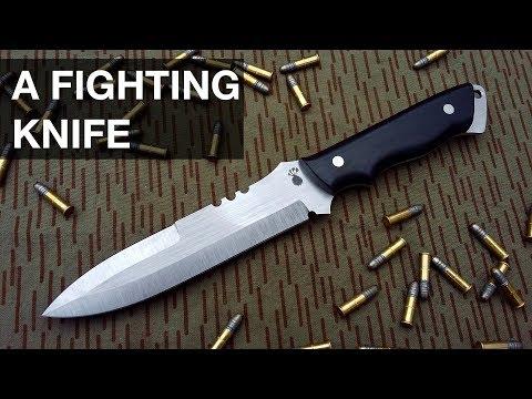 Making A Fighting Knife / Combat knife // Knifemaking // My Cellar Workshop